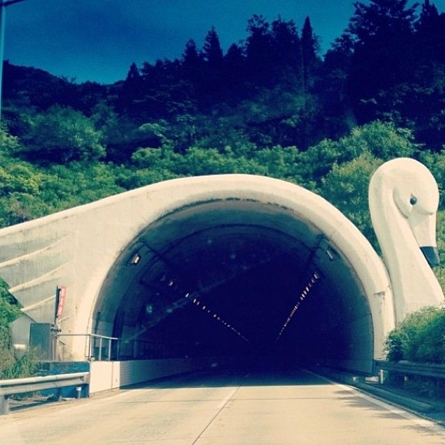 Swan Tunnel, Japan | architecture + urban planning + transportation engineering |   Does anyone know who the architect/engineering firm is that designed and built this?