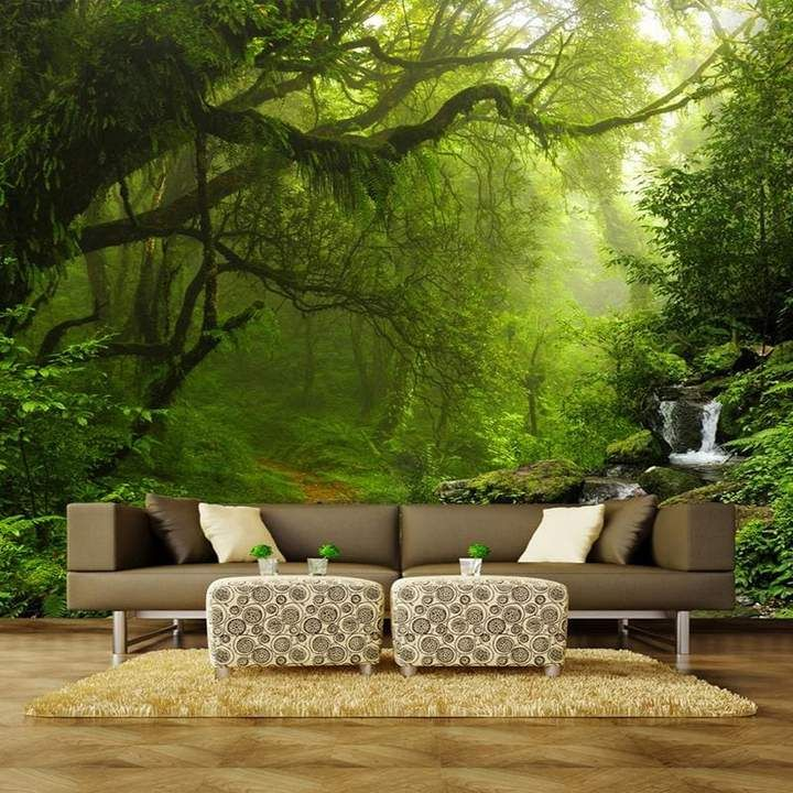 Absolutely Stunning Wallpaper Take A Relaxing Walk In The Forest Well Almost So Stunning Absolutely R 3d Wallpaper Mural Mural Wallpaper Landscape Wallpaper