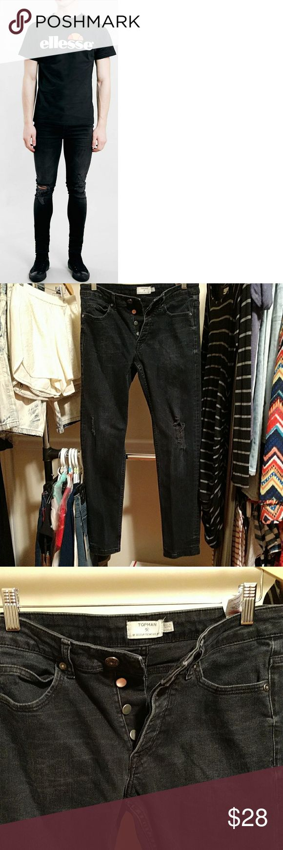 Topman Skinny Jeans in great shape. These jeans are are in great shape. No holes. No stains. The jeans are black. Size is 30S. Have questions. I'm here. Topman Jeans Skinny