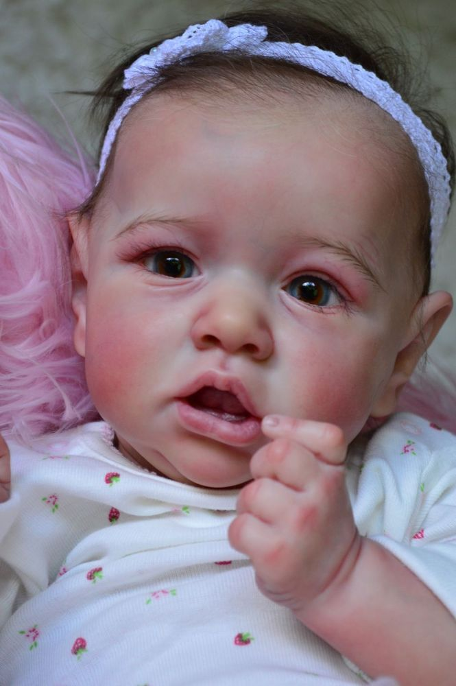 "Reborn Baby Doll girl "" Saskia "" from Bonnie Brown , so real and beautiful ! in Dolls & Bears, Dolls, Reborn 