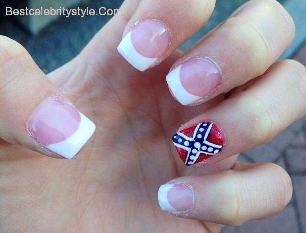 12 Southern Pride Rebel Flag Nails-1