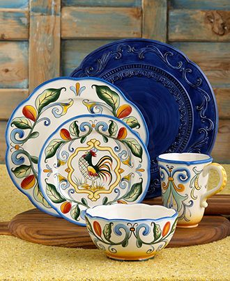 Fitz and Floyd Dinnerware, Ricamo 16 Piece Set - Casual Dinnerware - Dining…
