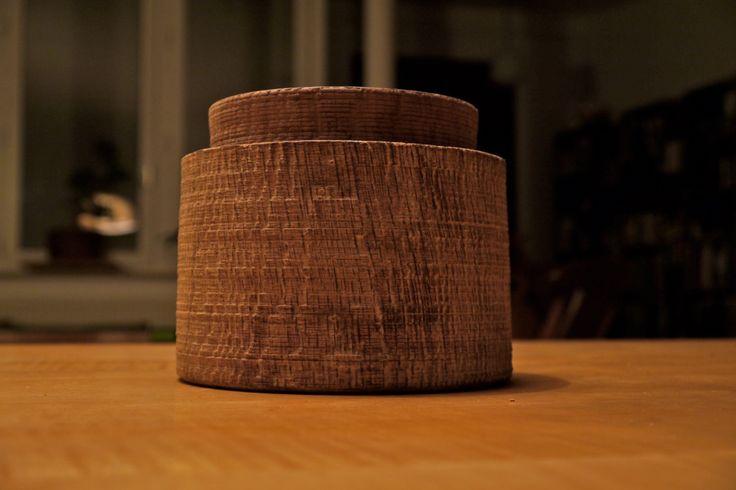 Limed Oakbox -∅ 14cm, H 13cm