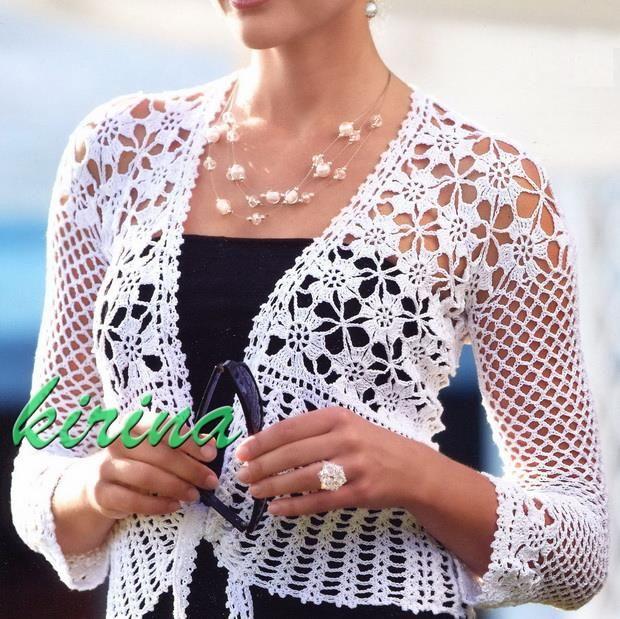 Elegante Crochet fácil: Crochet Bolero - elegante e fácil Bolero Para Mulheres