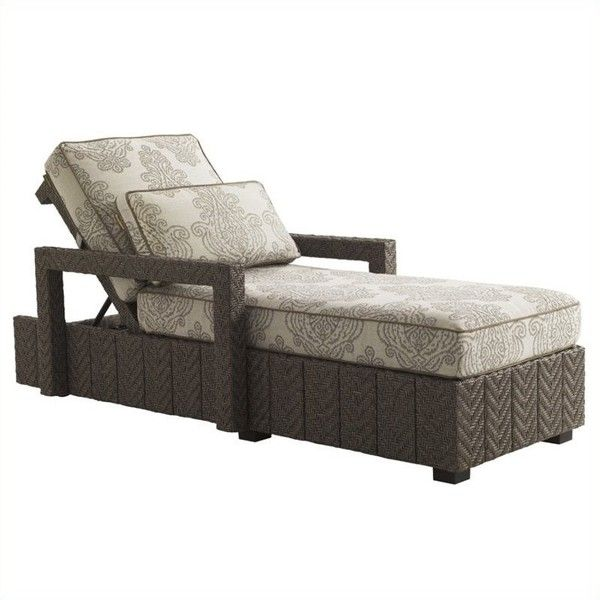 Tommy Bahama Home Blue Olive Wicker Chaise Lounge ($3,790) ❤ liked on Polyvore featuring home, outdoors, patio furniture, outdoor loungers & day beds, woven patio furniture, woven outdoor furniture, wicker garden furniture, blue outdoor furniture and wicker patio furniture