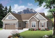 House Plan 76350   Country   Craftsman    Plan with 1780 Sq. Ft., 3 Bedrooms, 2 Bathrooms, 2 Car Garage