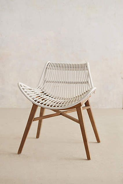 """Scrolled Rattan Chair - anthropologie.com Overall: 29""""H, 26""""W, 22""""D Seat: 17.5""""H Back: 11.5''H"""