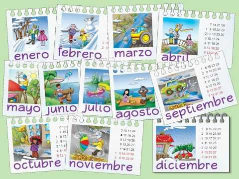 """Meses del año"" - Teach students the months of the year in Spanish!  from Calico Spanish curriculum"