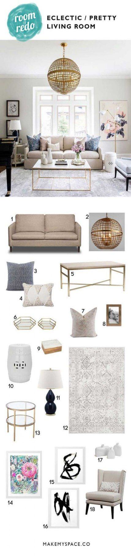 44 Ideas apartment living room decor chic gold