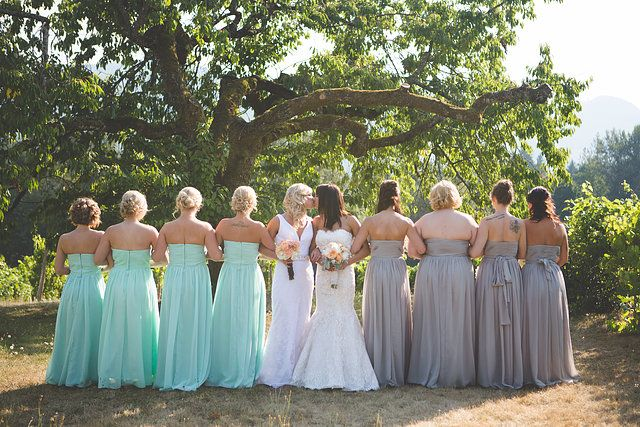 Melissa & Amanda Wedding, August 23rd 2014 Photographed by Feature Photography Glenora, British Columbia, Canada   Lesbian Wedding Photos Same-sex wedding LGBT Wedding Same Love  Dress & Dress Femme Lesbian Wedding  Grey and Mint Wedding