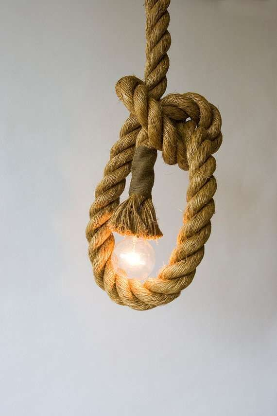 Rustic Light Fixtures - The Manila Rope Lights by Atelier 688 Look Fit for a Pirate's Ship (GALLERY)