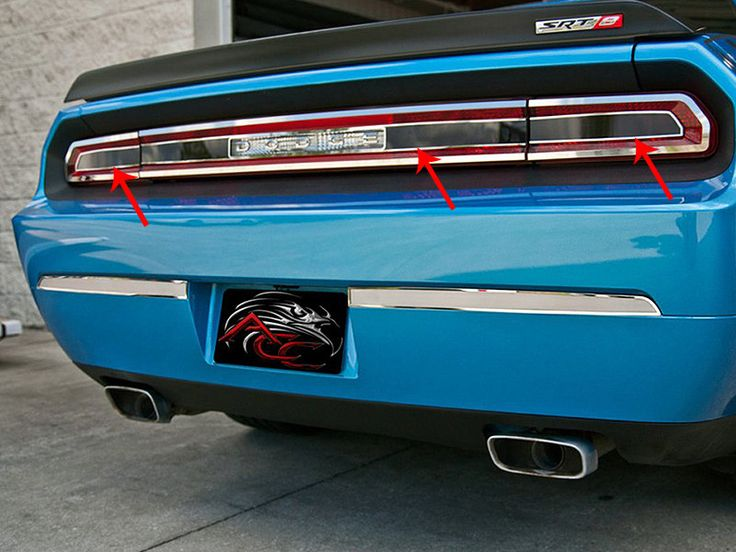 Captivating 2008 2014 Dodge Challenger Tail Light Smoked Plexi Trim Plate With Polished  Trim