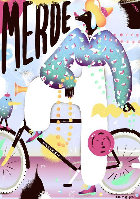 'Merde'. Giclée Art Print by Sac Magique http://www.artelimited.com/artists/sac-magique/merde-giclee-art-print-by-sac-magique.html