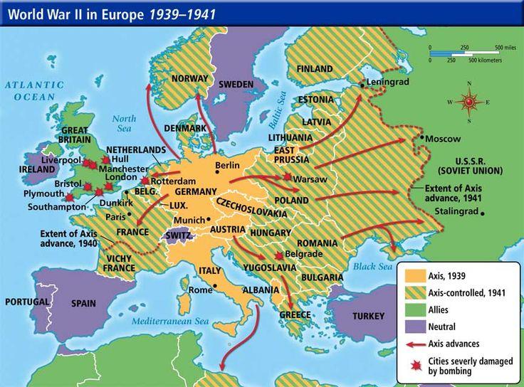 Resultado de imagen de 1941 WWII map