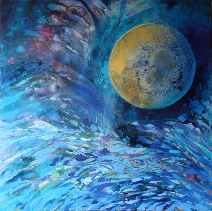 Luna III, 100x100cm, oil on canvas, 2011, Barbara Hacura