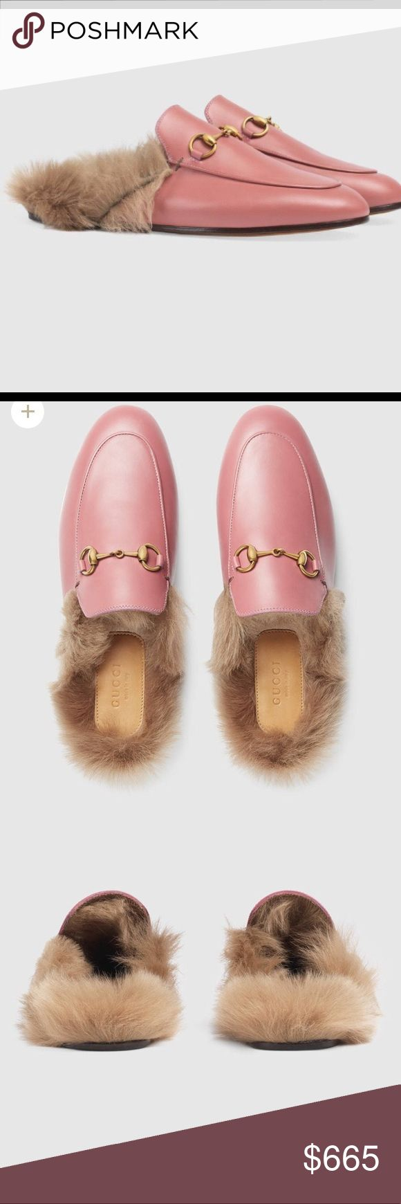 Gucci shoes Authentic 👌🏽 Mules, Brand New with all tags and original box size 41 EU. Color Lipstick Rose/Natur. Betis Glamour/Glasgow. Size fits 9.5 and 10 US Gucci Shoes Mules & Clogs