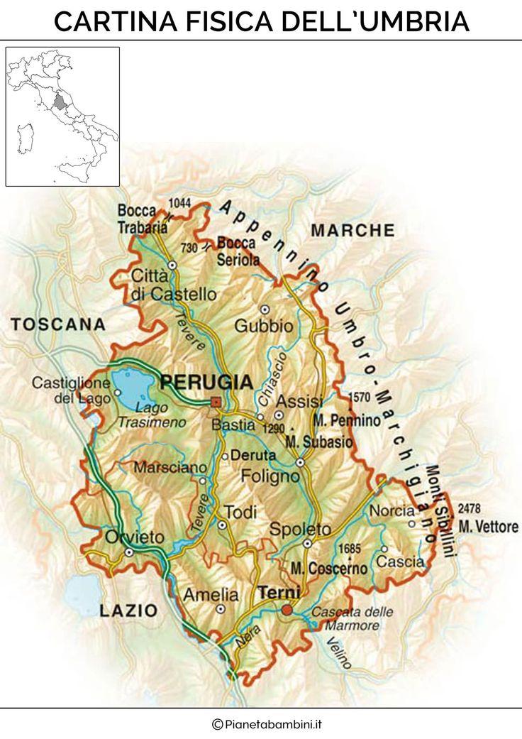 Cartina Fisica Umbria