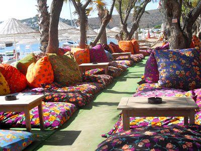 Cushions on Bitez Beach, Turkey