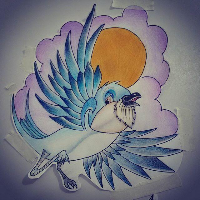 Liberdade de voar num horizonte qualquer, liberdade de pousar onde o coração quiser, Disponível Contato 27 998262449 Whatsapp #passarostattoo #passaros #voar #liberdade #rastatattoo #vamhallen