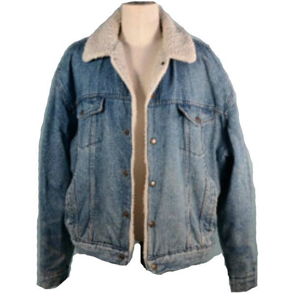 Vintage Denim Sherpa Lined Trucker Jacket/ Country Western Cowboy... ($55) ❤ liked on Polyvore featuring outerwear, jackets, denim jacket, vintage jean jacket, vintage jacket, cowboy jacket and vintage denim jacket