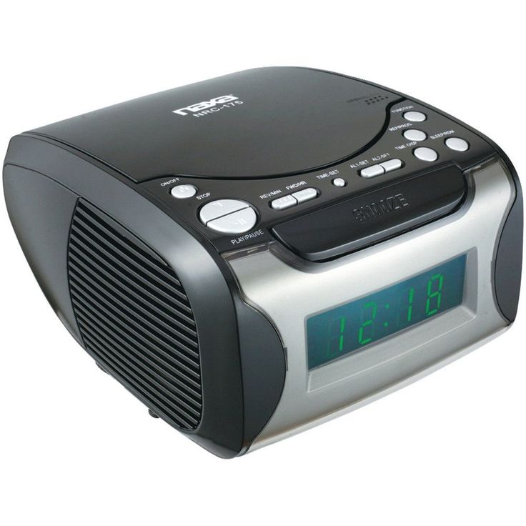 Naxa Digital Alarm Clock with Digital Tuning AM/FM Radio & CD Player
