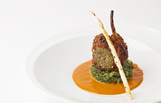 Spice-crusted lamb rack