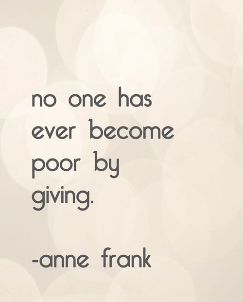 I'd rather give anyday.....