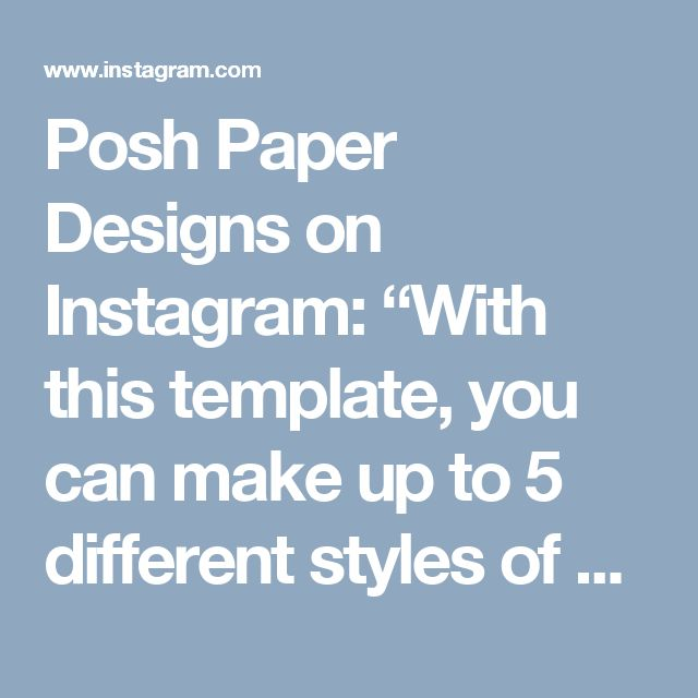 """Posh Paper Designs on Instagram: """"With this template,  you can make  up to 5 different styles of beautiful flowers. Email me at poshpaperflowers@gmail.com #paperart…"""""""