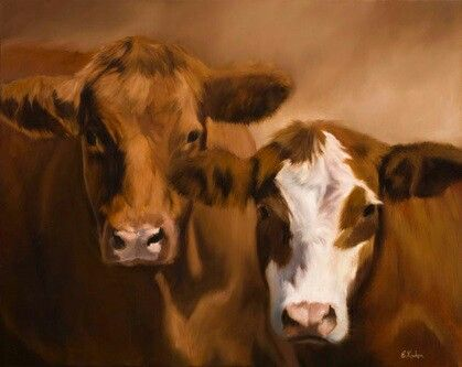 "I love my cows ""The Defenders"" by Elizabeth Kinahan"