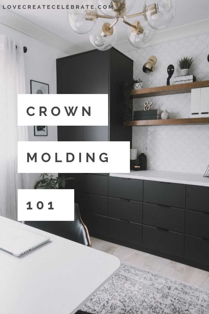 Crown Molding For Beginners How To Install Over Tile With Images Home Design Living Room Modern Office Space Home