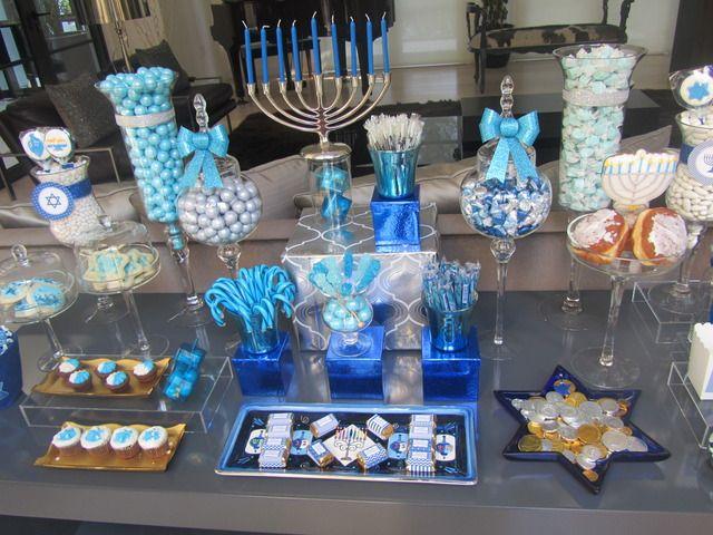 Amazing Hanukkah dessert table #hanukkah #desserttable
