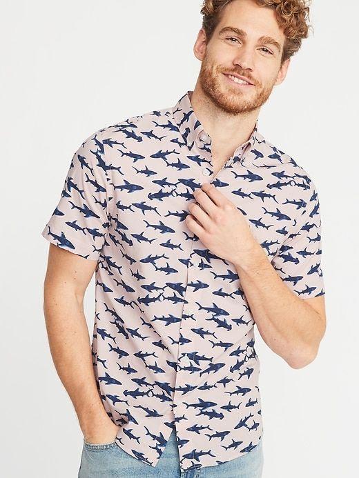 2a3dcbbb14 Slim-Fit Built-In Flex Printed Everyday Shirt for Men in 2019 ...