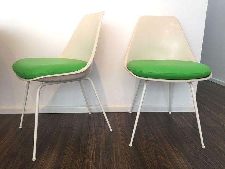 NEW SET (4) Vinyl Cushions  Saarinen Tulip Arm U0026 Armless Chair  Burke Chairs