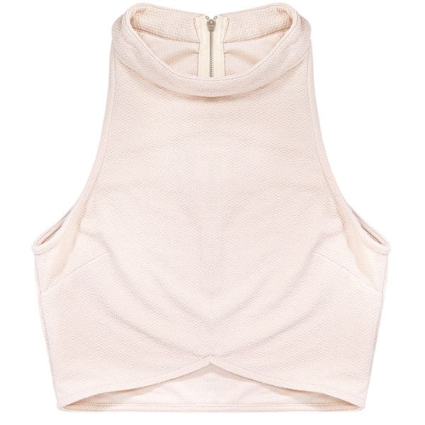 Rituals Crop Nude | Beginning Boutique ($32) ❤ liked on Polyvore featuring tops, shirts, crop tops, crop, shirt crop top, pink shirt, pink top, pink crop top and crop shirts