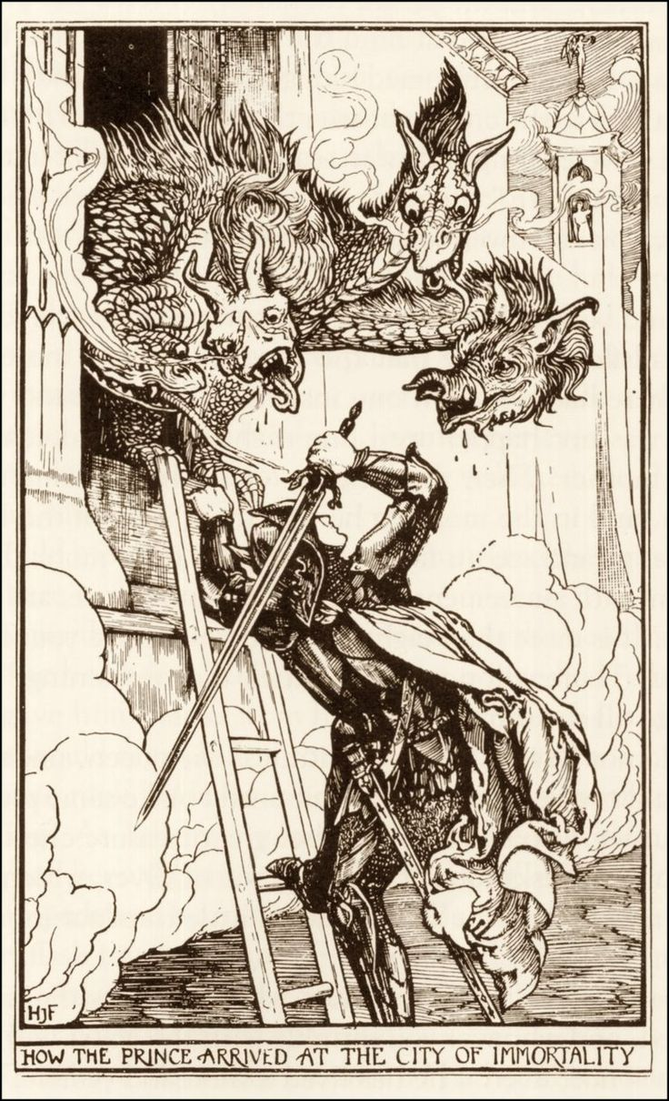 Henry Justice Ford ~ How The Prince Arrived at the City of Immortality ~ The Crimson Fairy Book by Andrew Lang ~ 1903