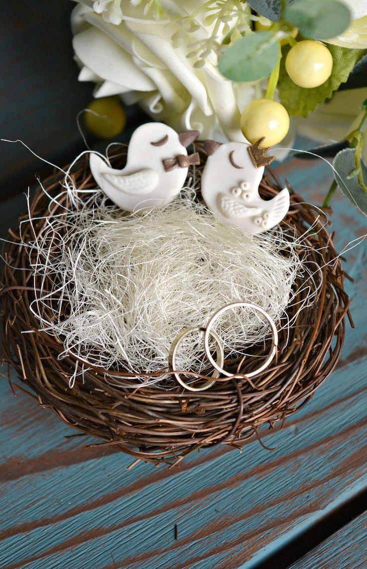 Nest For Wedding Rings 'Love Birds' | Гнездышко для обручальных колец «Влюбленные птички»