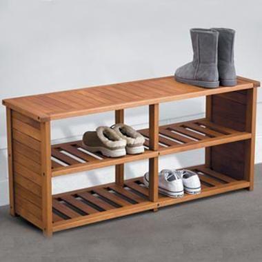 eucalyptus shoe bench shoe storage
