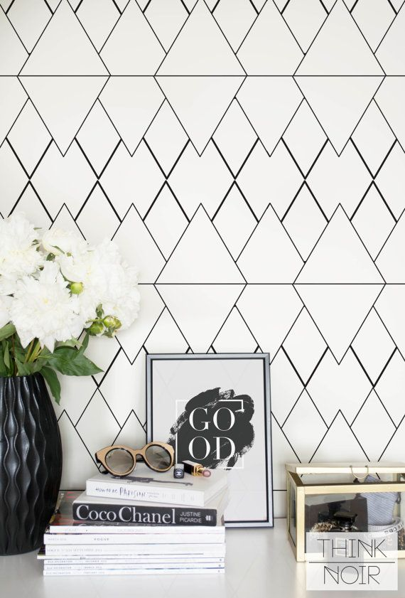 Geometric Removable Wallpaper Self Adhesive by ThinkNoirWallpaper  ~ Great pin! For Oahu architectural design visit http://ownerbuiltdesign.com