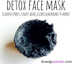 This bentonite clay and activated charcoal face mask is the perfect detox your face needs to unclog blocked pores and deep cleanse your skin from deep within!