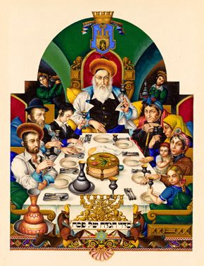 This Night, a page from the Szyk Haggadah. Arthur Szyk's illuminated Haggadah was a labor of love that consumed more than a decade of his life.
