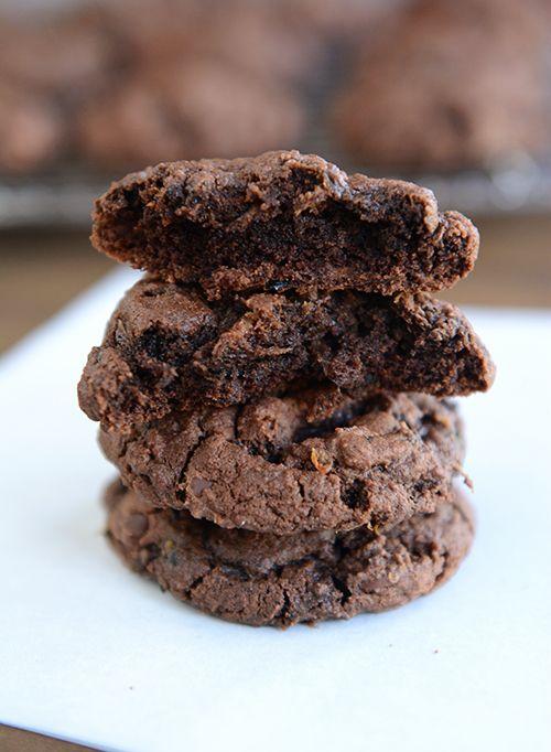 Triple Chocolate Zucchini Cookies