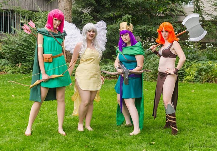 Clash of Clans Cosplay: The Ladies! #clashroyale #clashershq
