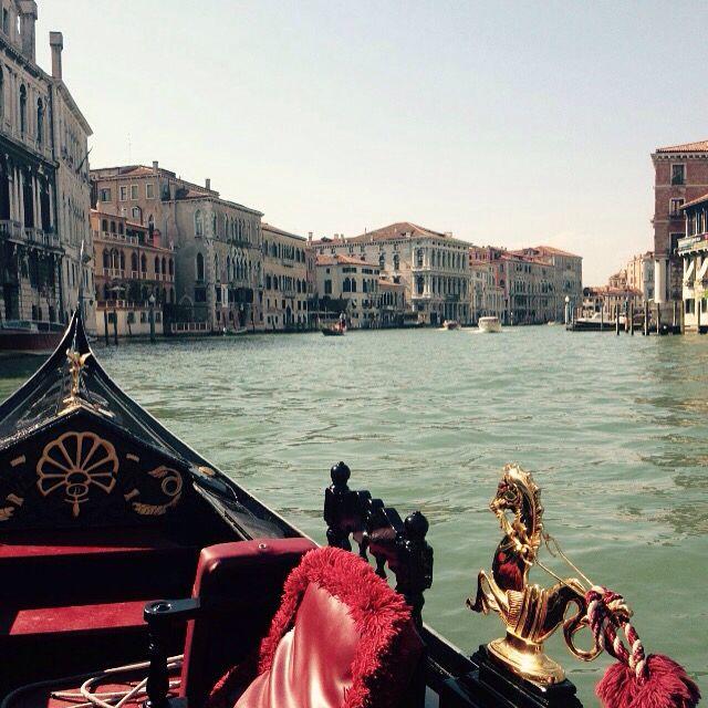Gondola ride on The Grand Canal // Venice.