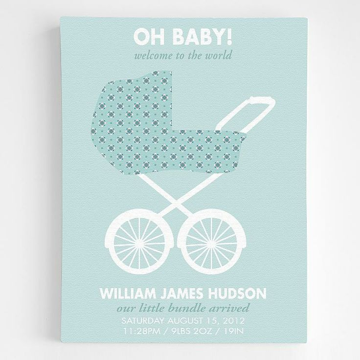 73 best oh baby images on pinterest personalized stroller announcement wall art personalized baby gifts redenvelope negle Gallery