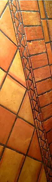 Want more Mexican tile floor design ideas like this? Click on the photo to visit the Mexican Tile Design website and scroll through our photo galleries!