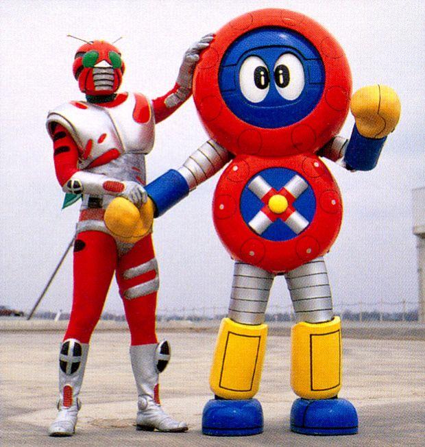 仮面ライダーZXとバッテンロボ丸