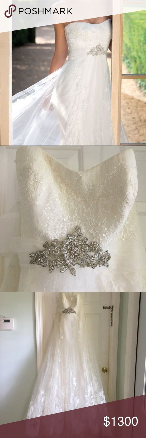 San Patrick wedding gown and veil (style- Ramaje) New without tags                                                                     Never been worn Still have receipts  Size 8  Hasn't been altered    Comes with veil Dress is off white Dresses Wedding