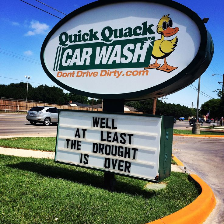 https://flic.kr/p/uoji35 | Drought Is Over | Sign at a local car wash talking about the recent rain storms in Lubbock, Texas (taken June 14, 2015).