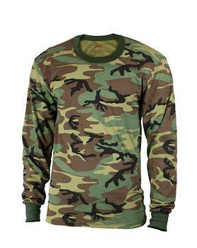 Rothco Langærmet T-shirt i US camo - Drenge, 129kr