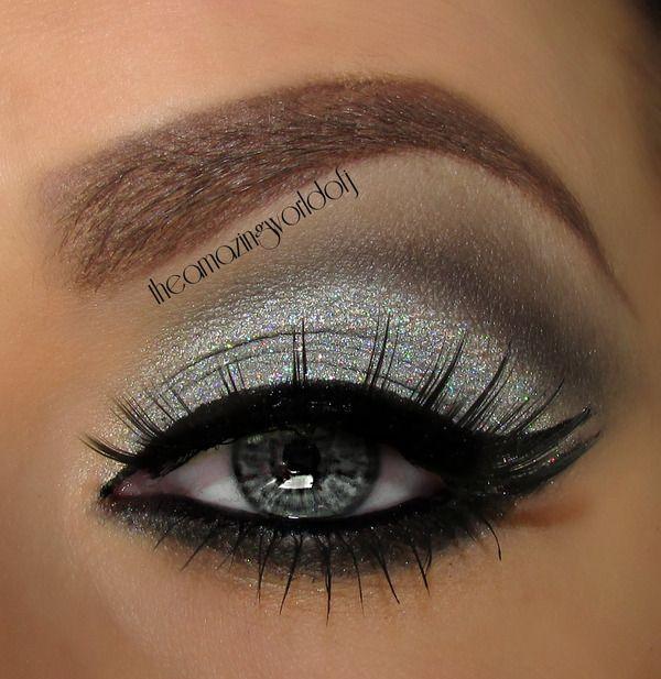 Glittery Silver Eyeshadow So Pretty Beautification